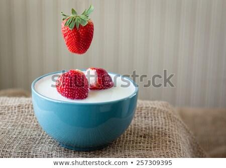 イチゴ ミルク 表示 3 ストックフォト © foto-fine-art