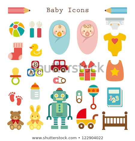 icon of toys and accessories for babies and children stock photo © konturvid