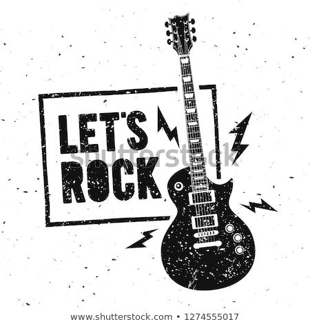 Illustrazione grunge chitarra arte tempo digitale Foto d'archivio © igorij