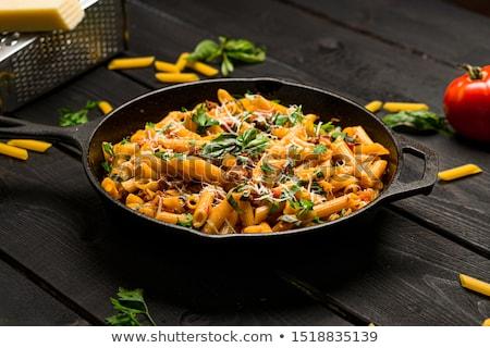 помидоров базилик готовый пасты еды здоровья Сток-фото © Armisael
