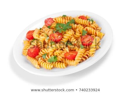 пасты помидоров базилик здоровья обеда пшеницы Сток-фото © Armisael
