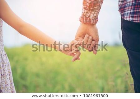 Photo stock: Petite · fille · père · plage · enfants · soleil · enfant