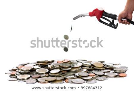 Benzine prijs 3d render bar industriële dienst Stockfoto © sscreations