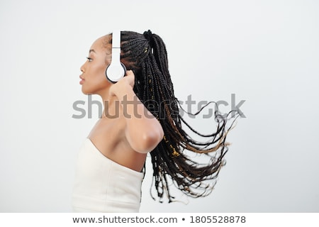 Beautiful busty African model Stock photo © stryjek