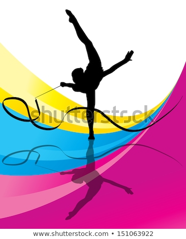 smiling fitness woman with a fitness ribbon stock photo © rob_stark