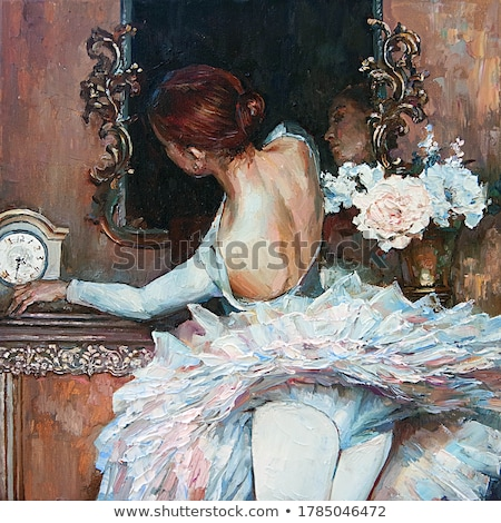 jovem · bailarina · branco · sessão · piso - foto stock © aikon