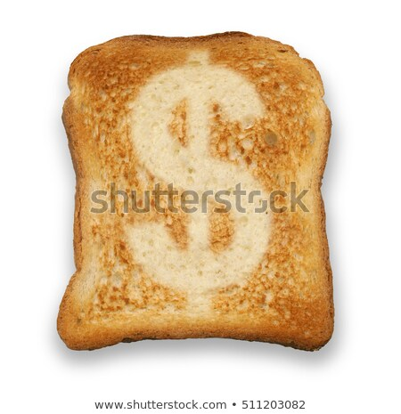 Stock photo: bread slice with dollar sign
