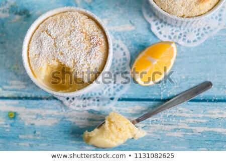 limón · agrios · tarta · torta · postre · cuchara - foto stock © danielgilbey