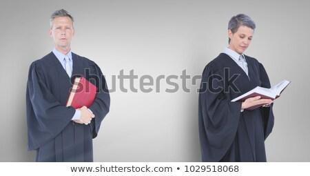 Bonito maduro juiz judicial isolado Foto stock © lisafx