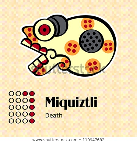 Aztec symbol Miquiztli Stock photo © sahua