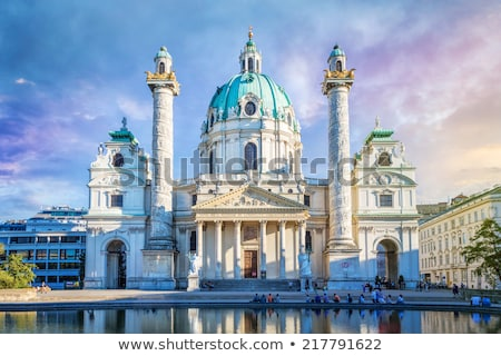 baroque karlskirche church in vienna austria stock photo © vladacanon