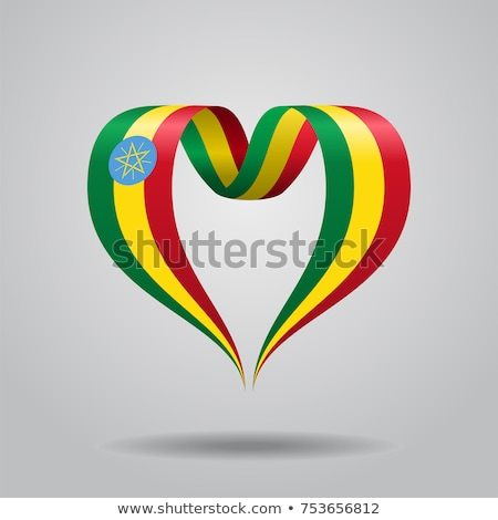 image of heart with flag of ethiopia stock photo © perysty