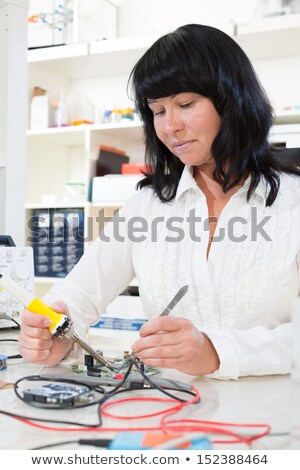 electrician using tester Stock photo © photography33