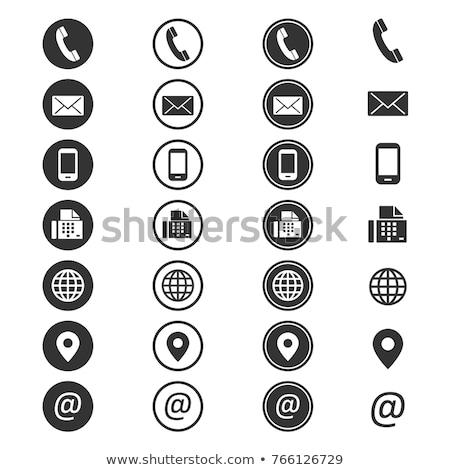 私達について · ソーシャルメディア · ボタン · 孤立した · 白 · 技術 - ストックフォト © tashatuvango