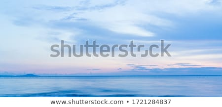 синий морем волны небе облака воды Сток-фото © ozaiachin