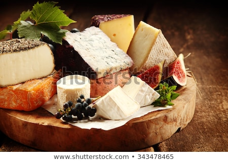 suave · frescos · frutas · queso · placa · mármol - foto stock © rtimages