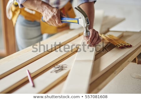 Man nagel huis hout bouw frame Stockfoto © photography33