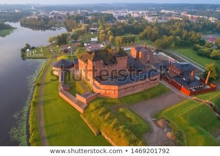 Финляндия крепость старые города небе трава Сток-фото © Estea
