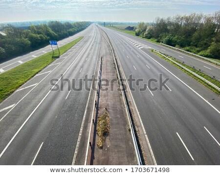 пусто автострада новых шоссе автомобилей трава Сток-фото © samsem