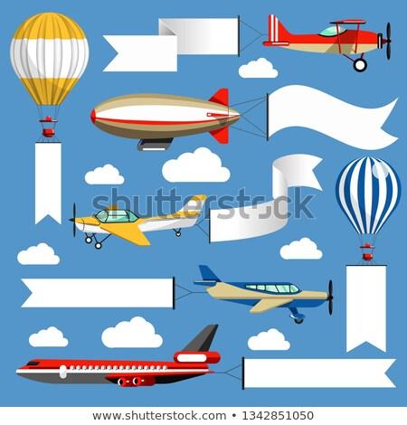 dirigible advertising media Stock photo © rmarinello