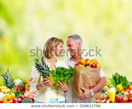 коллаж · молодые · красивая · женщина · свежие · овощи · здоровое · питание · продовольствие - Сток-фото © photography33