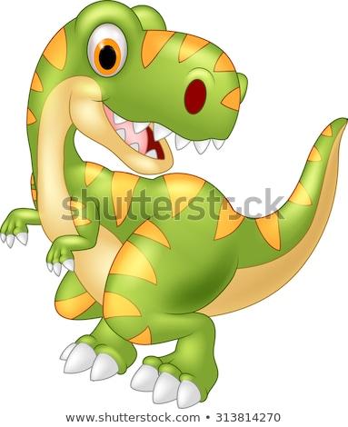 Zöld dinoszaurusz rajz modell szín park Stock fotó © dagadu