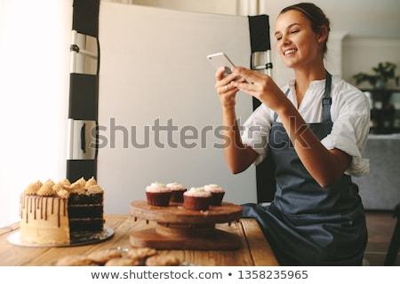 Baker orange chocolat rouge Photo stock © limbi007