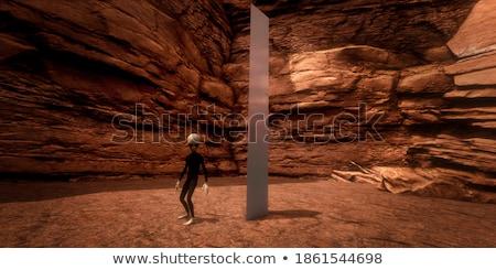 Detay manzara kaya taş güneş dini Stok fotoğraf © prajit48