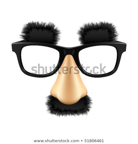 смешные маскировка очки носа изолированный фон Сток-фото © ozaiachin