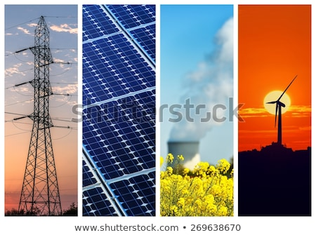 electric power collage Stock photo © ssuaphoto