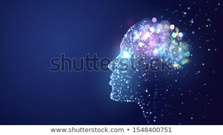 Сток-фото: человека · интеллект · сломанной · кирпичная · стена · форма · голову
