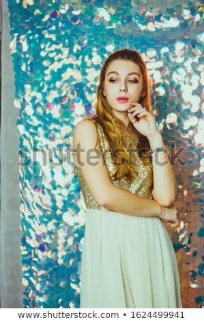 retrato · cute · mujer · rubia · plata · de · moda - foto stock © pawelsierakowski