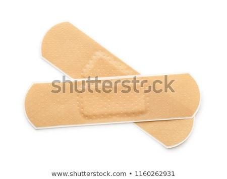 Stock fotó: Tapadó · tapasz · izolált · fehér · háttér · gyógyszer
