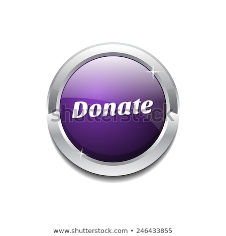 Donate - Purple Button Stock photo © iqoncept