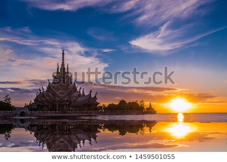 Pattaya Sanctuary of Truth Thailand Stock photo © RuslanOmega