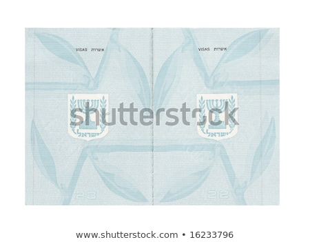 Blank Israeli Passport Stock photo © eldadcarin