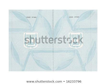 israelense · passaporte · bom · papel · imprimir - foto stock © eldadcarin