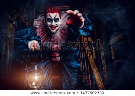 gelukkig · clown · spelen · saxofoon · illustratie · muziek - stockfoto © cteconsulting