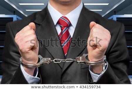 kezek · üzletember · bilincs · bíróság · szoba · törvény - stock fotó © wavebreak_media