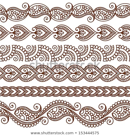Summer Henna Border Stock photo © artplay