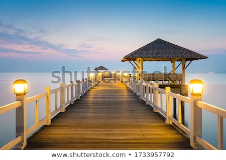 wood bridge background Stock photo © Bunwit