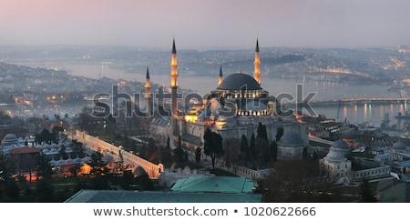 minare · cami · İstanbul · Türkiye · görmek · gökyüzü - stok fotoğraf © andreykr