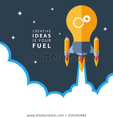 big idea and light bulb symbol in blue gears Stock photo © marinini