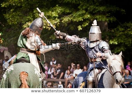 toernooi · middeleeuwse · ridder · paardenrug · concurrentie - stockfoto © taden