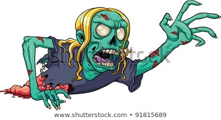 aç · karikatür · zombi · örnek · bakıyor · adam - stok fotoğraf © kakigori