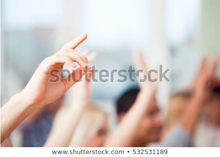 Handen omhoog omhoog twee water geweren Stockfoto © soupstock