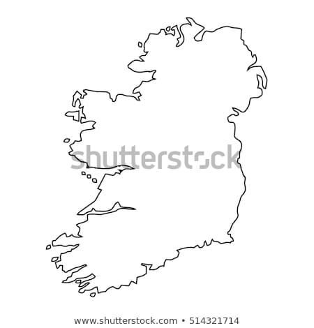 Outline Ireland map Stock photo © Volina