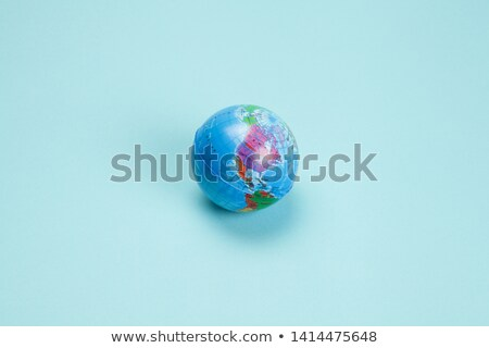 balloon with the texture of the planet earth stock photo © cherezoff