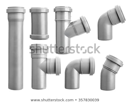 Grey PVC sewer pipe Stock photo © cherezoff