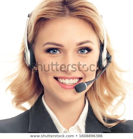 loiro · empresária · retrato · belo · mulher · de · negócios · branco - foto stock © dash